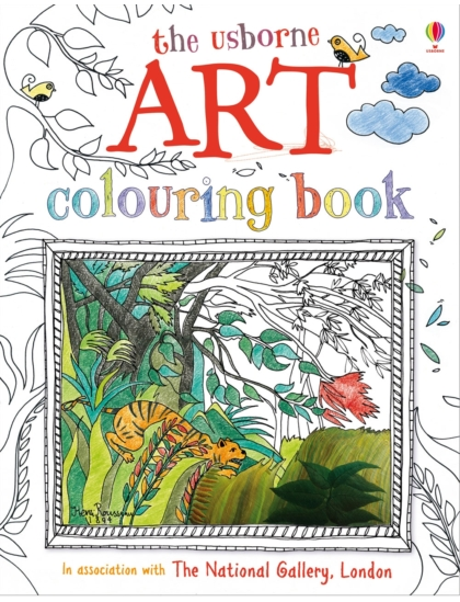 Art colouring Book with stickers
