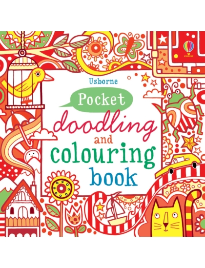 Pocket Doodling and Colouring Book Red