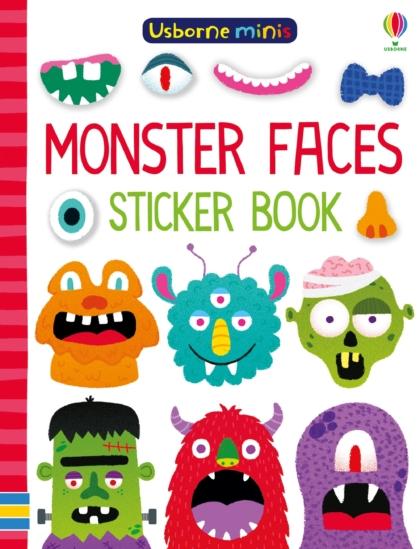 Monster Faces Sticker Book